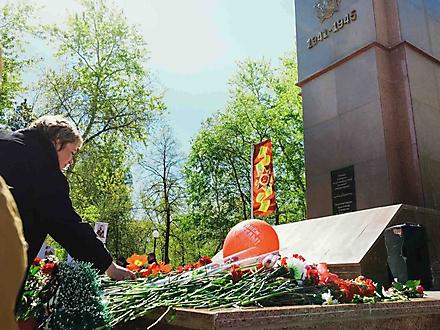 Бессмертный полк в городе Петропавловске, Казахстан, 9 мая 2016 г.
